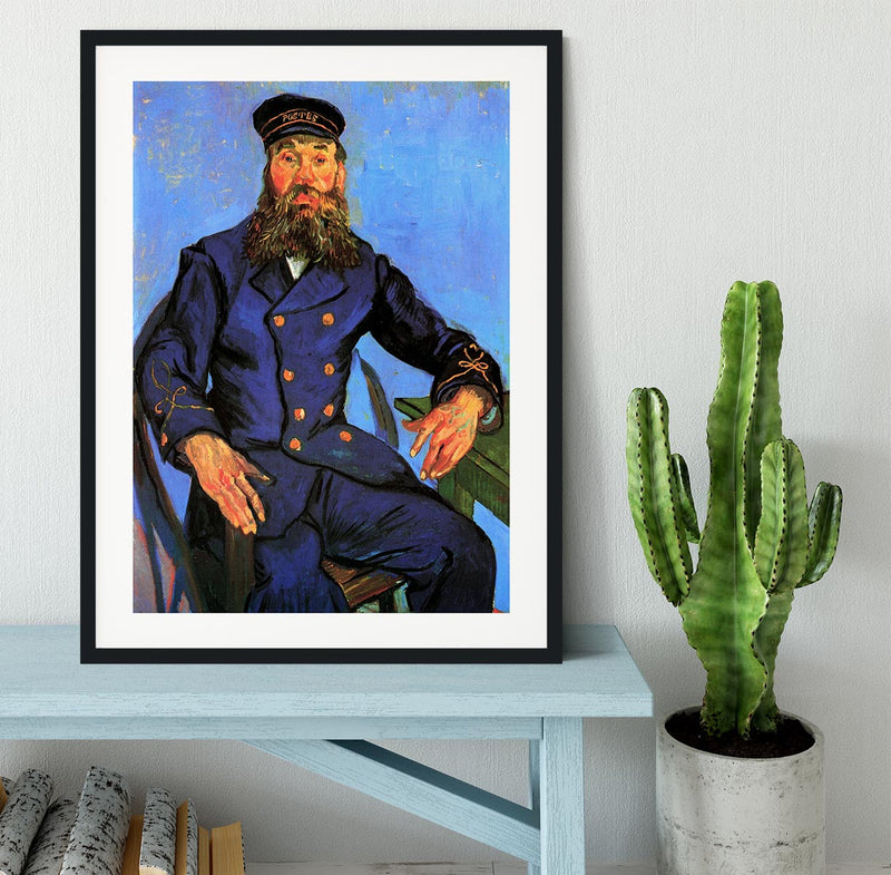 Portrait of the Postman Joseph Roulin by Van Gogh Framed Print - Canvas Art Rocks - 1
