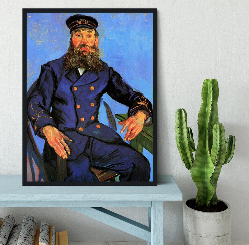 Portrait of the Postman Joseph Roulin by Van Gogh Framed Print - Canvas Art Rocks - 2