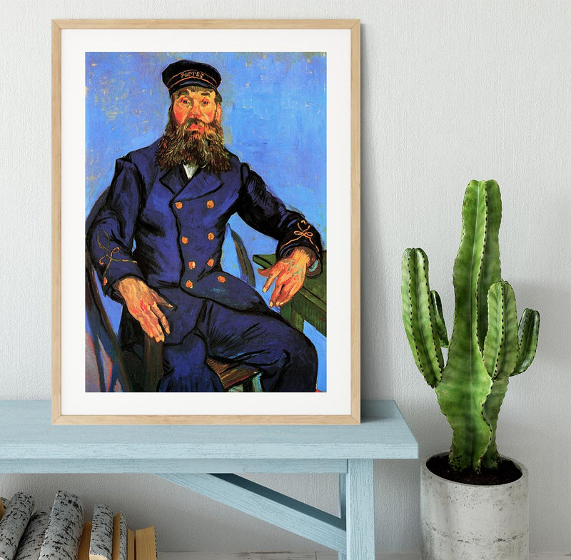 Portrait of the Postman Joseph Roulin by Van Gogh Framed Print - Canvas Art Rocks - 3