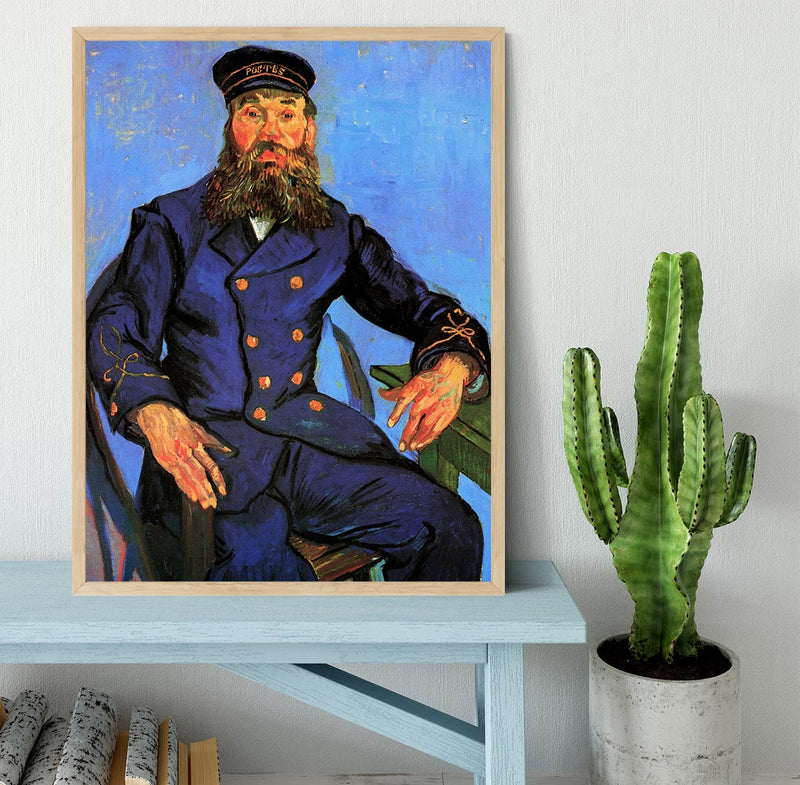Portrait of the Postman Joseph Roulin by Van Gogh Framed Print - Canvas Art Rocks - 4