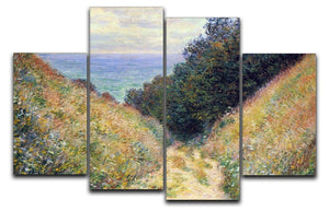 Pourville 1 by Monet 4 Split Panel Canvas  - Canvas Art Rocks - 1