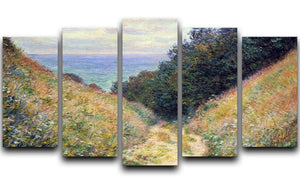 Pourville 1 by Monet 5 Split Panel Canvas  - Canvas Art Rocks - 1
