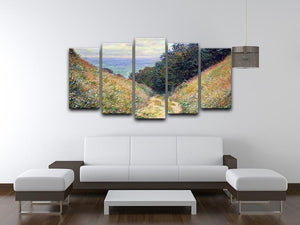 Pourville 1 by Monet 5 Split Panel Canvas - Canvas Art Rocks - 3