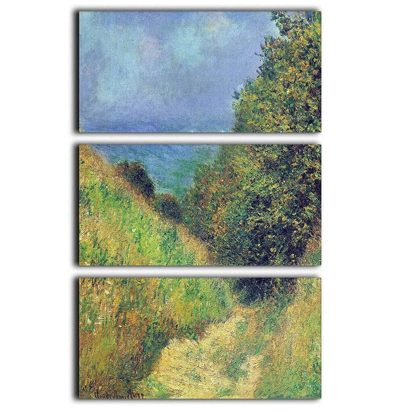 Pourville 2 by Monet 3 Split Panel Canvas Print - Canvas Art Rocks - 1