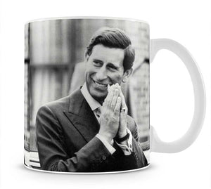 Prince Charles touring Handsworth outside Birmingham Mug - Canvas Art Rocks - 1