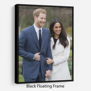 Prince Harry and fiance Meghan Markle announce their engagement Floating Frame Canvas