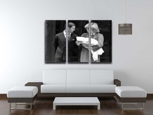 Prince Harry as a newborn with proud parents 3 Split Panel Canvas Print - Canvas Art Rocks - 3
