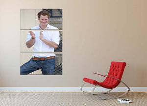 Prince Harry at a blind clinic in Lesotho South Africa 3 Split Panel Canvas Print - Canvas Art Rocks - 2