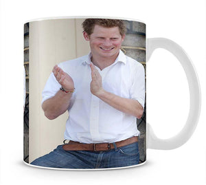 Prince Harry at a blind clinic in Lesotho South Africa Mug - Canvas Art Rocks - 1