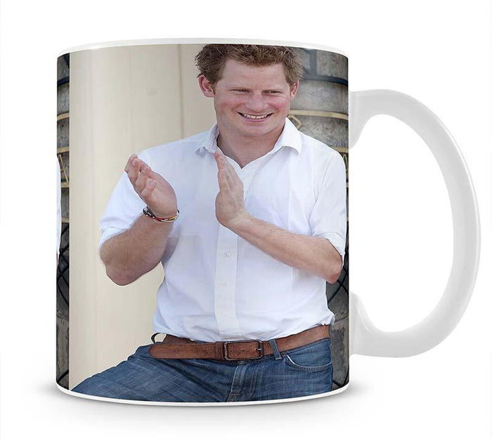 Prince Harry at a blind clinic in Lesotho South Africa Mug