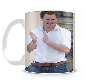 Prince Harry at a blind clinic in Lesotho South Africa Mug - Canvas Art Rocks - 2