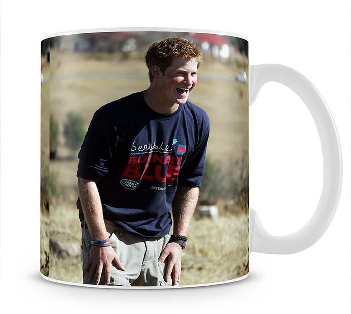 Prince Harry helping build a school in Lesotho South Africa Mug