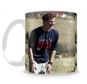 Prince Harry helping build a school in Lesotho South Africa Mug - Canvas Art Rocks - 2