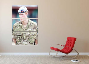 Prince Harry in uniform during a tour of Jamaica 3 Split Panel Canvas Print - Canvas Art Rocks - 2