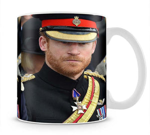 Prince Harry in uniform during ceremonies in Staffordshire Mug - Canvas Art Rocks - 1