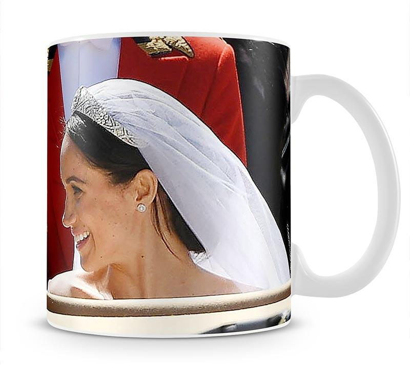 Prince Harry smiles at his new wife Meghan Mug - Canvas Art Rocks - 1