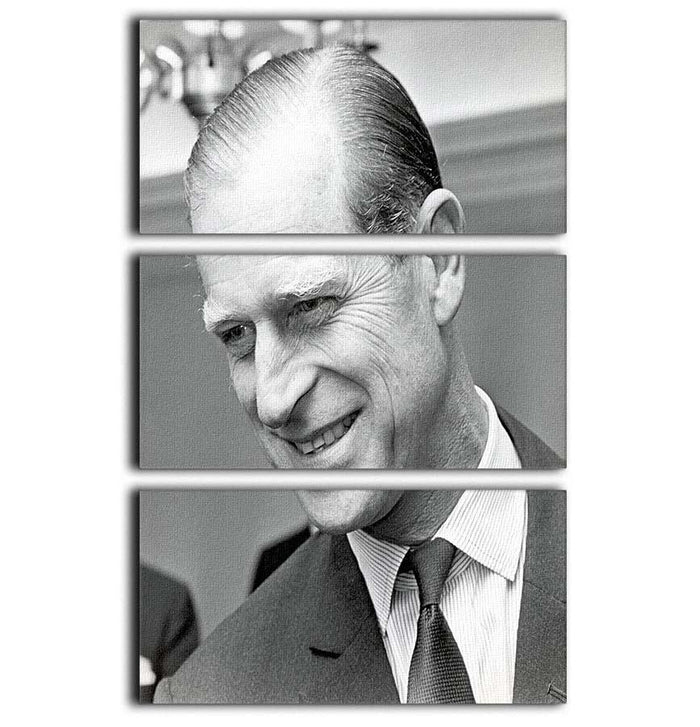 Prince Philip at Imperial House London 3 Split Panel Canvas Print