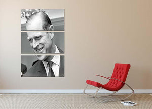 Prince Philip at Imperial House London 3 Split Panel Canvas Print - Canvas Art Rocks - 2