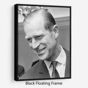Prince Philip at Imperial House London Floating Frame Canvas