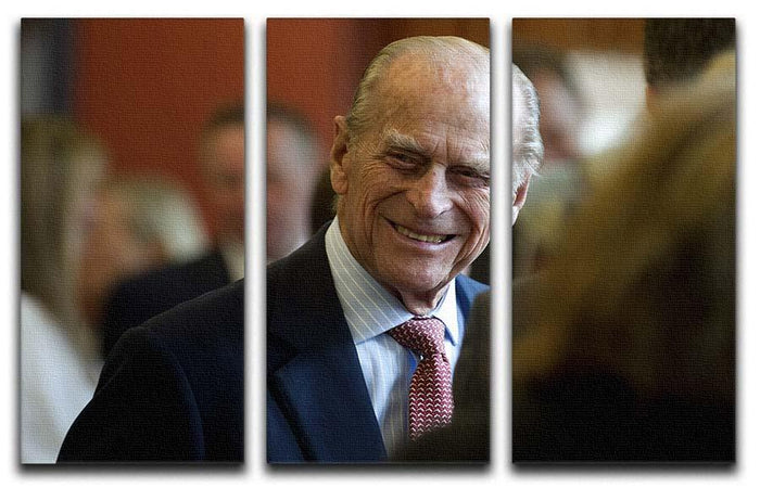 Prince Philip at the Journalists Charity at Stationers Hall 3 Split Panel Canvas Print