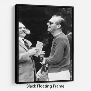 Prince Philip chatting with the comedian Jimmy Edwards Floating Frame Canvas