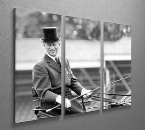 Prince Philip driving a carriage during a race at Ascot 3 Split Panel Canvas Print - Canvas Art Rocks - 2