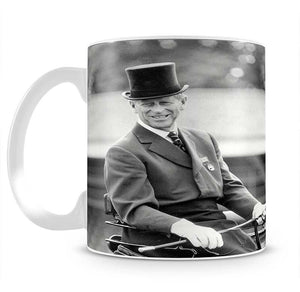 Prince Philip driving a carriage during a race at Ascot Mug - Canvas Art Rocks - 2