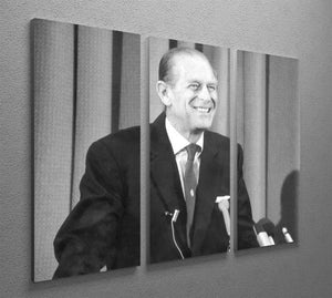 Prince Philip giving a lecture at Hudson Bay House 3 Split Panel Canvas Print - Canvas Art Rocks - 2