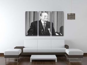 Prince Philip giving a lecture at Hudson Bay House 3 Split Panel Canvas Print - Canvas Art Rocks - 3