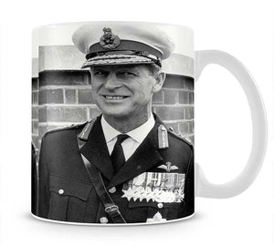 Prince Philip in Royal Marines uniform Mug - Canvas Art Rocks - 1