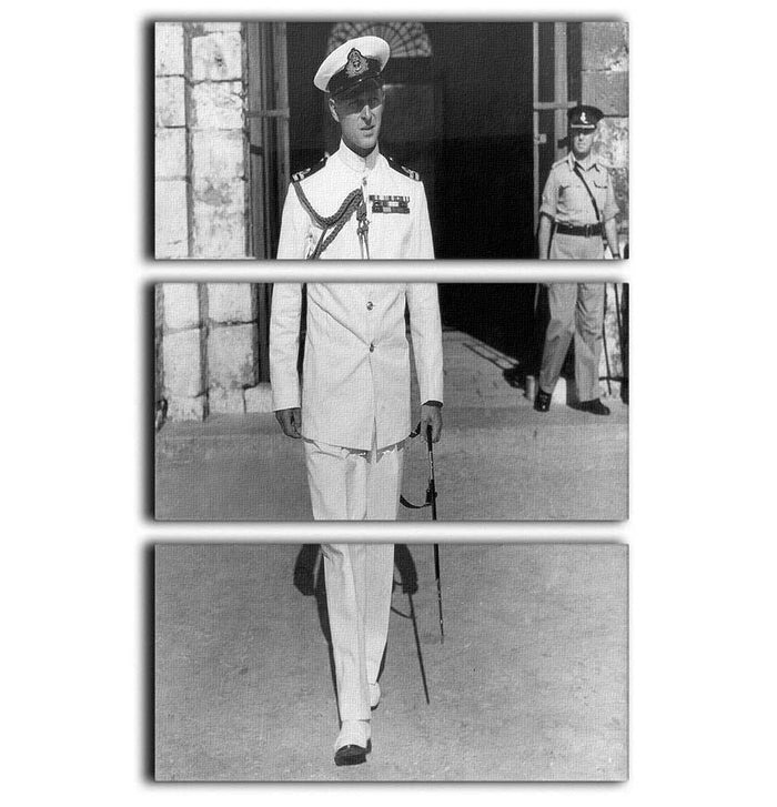 Prince Philip in naval uniform in Malta 3 Split Panel Canvas Print