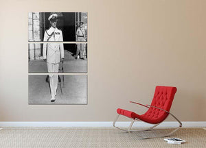 Prince Philip in naval uniform in Malta 3 Split Panel Canvas Print - Canvas Art Rocks - 2