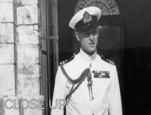 Prince Philip in naval uniform in Malta 3 Split Panel Canvas Print - Canvas Art Rocks - 3