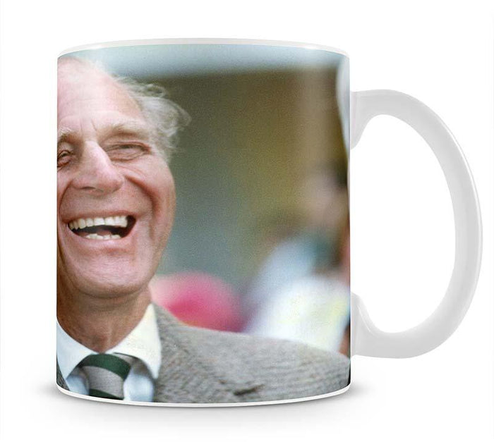 Prince Philip laughing at the Royal Windsor Horse Show Mug