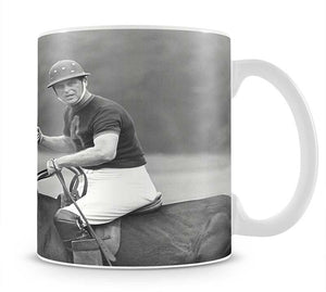 Prince Philip shown winning the polo Gold Cup Mug - Canvas Art Rocks - 1