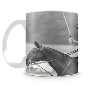 Prince Philip shown winning the polo Gold Cup Mug - Canvas Art Rocks - 2