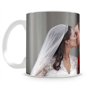Prince William and Kate sharing a wedding kiss Mug - Canvas Art Rocks - 2