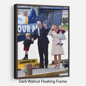 Prince William and Kate with George and Charlotte in Canada Floating Frame Canvas