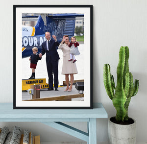 Prince William and Kate with George and Charlotte in Canada Framed Print - Canvas Art Rocks - 1