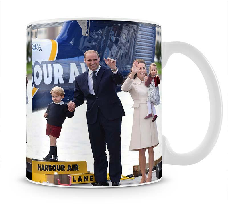 Prince William and Kate with George and Charlotte in Canada Mug - Canvas Art Rocks - 1