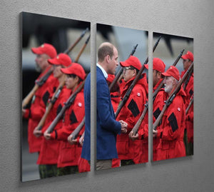Prince William greeted by Canadian Rangers on Canadian tour 3 Split Panel Canvas Print - Canvas Art Rocks - 2