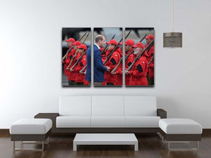 Prince William greeted by Canadian Rangers on Canadian tour 3 Split Panel Canvas Print - Canvas Art Rocks - 3
