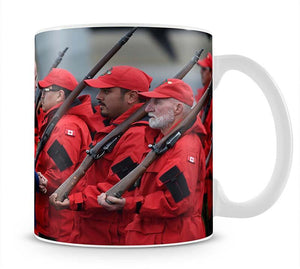 Prince William greeted by Canadian Rangers on Canadian tour Mug - Canvas Art Rocks - 1