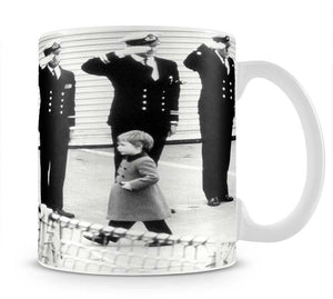 Prince William visiting the Royal Navy as a small child Mug - Canvas Art Rocks - 1