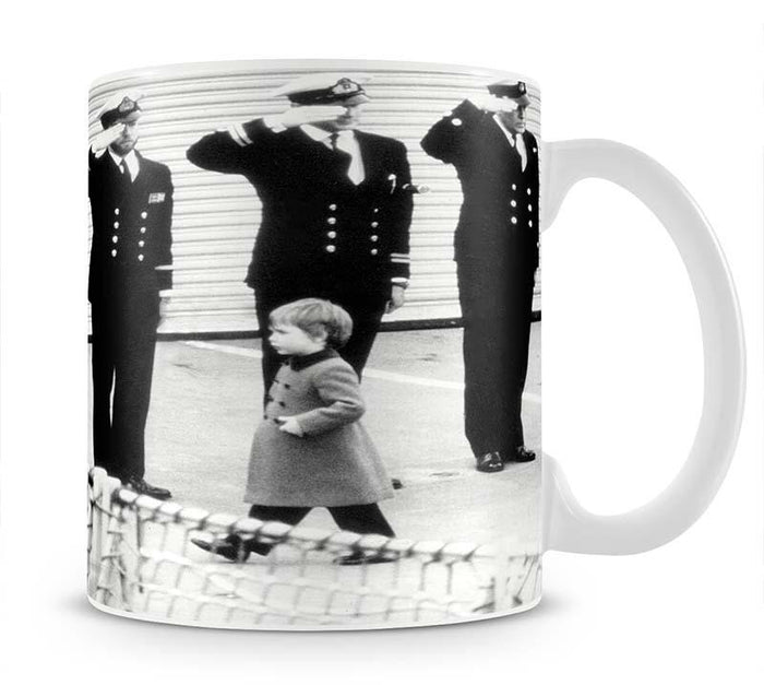 Prince William visiting the Royal Navy as a small child Mug