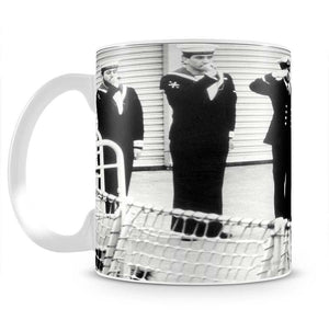 Prince William visiting the Royal Navy as a small child Mug - Canvas Art Rocks - 2