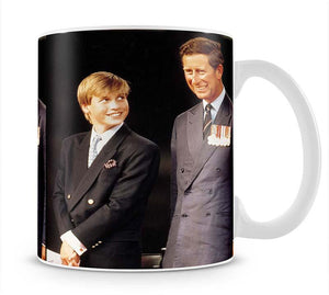 Prince William with Prince Charles at a VJ Parade Mug - Canvas Art Rocks - 1