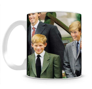 Prince Williams first day at Eton with Prince Charles Mug - Canvas Art Rocks - 2