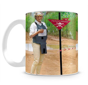 Princes Diana at a mine field in Angola for a Red Cross visit Mug - Canvas Art Rocks - 2