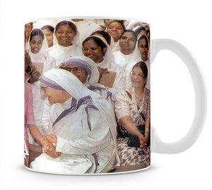 Princes Diana with Mother Theresa in Calcutta India Mug - Canvas Art Rocks - 1